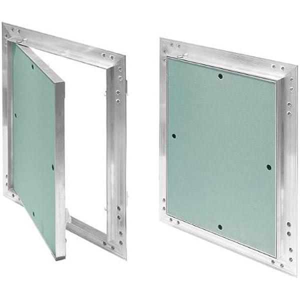Tapa para revisión GK de 150x150 mm yeso 12,5 mm kral16 pladur Revisión Mantenimiento Puerta 15x15 cm Mantenimiento Tapa de limpieza Mantenimiento Apertura, marco de aluminio Verde menta en seco: Amazon.es: Bricolaje