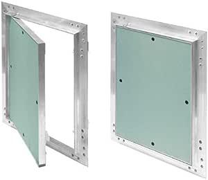 Tapa para revisión GK de 250x250 mm yeso 12,5 mm kral18 pladur Revisión Mantenimiento Puerta 25x25 cm Mantenimiento Tapa de limpieza Mantenimiento Apertura, marco de aluminio Verde menta en seco: Amazon.es: Bricolaje