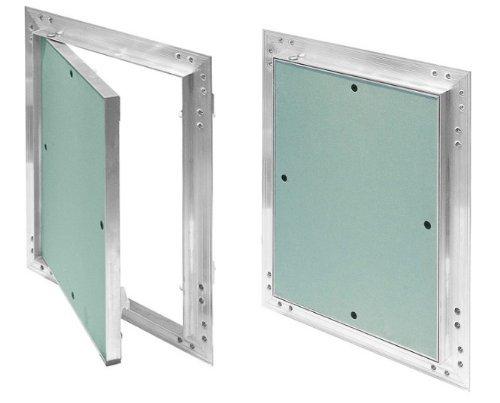 Trappe GK-Tapis de 300x 400mm en placo/carton-plâtre 12, 5mm kral19Trappe de révision entretien Porte 30x 40cm Ouverture Trappe de nettoyage de maintenance de maintenance avec cadre en aluminium Vert adapt&e