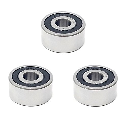 3x 5200 2RS Double Row Sealed Angular Contact Ball Bearings - 10x30x14.3 mm Volar Motorsport Inc