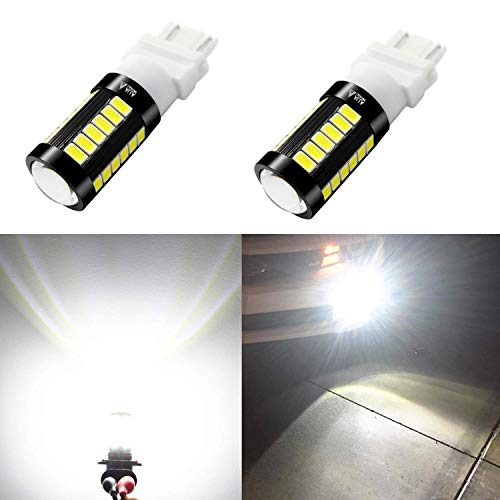 Alla Lighting 2800lm 3156 3157 LED White LED Bulbs Xtreme Super Bright T25 3056 3057 LED Bulb 5730 33-SMD LED 3157 Bulb for Back-Up Reverse/Turn Signal/Brake Stop Tail Lights, 6000K Xenon White