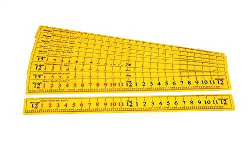 Learning Advantage 7546 Student Elapsed Time Ruler (Pack of 10) (Elapsed Time Number Line)
