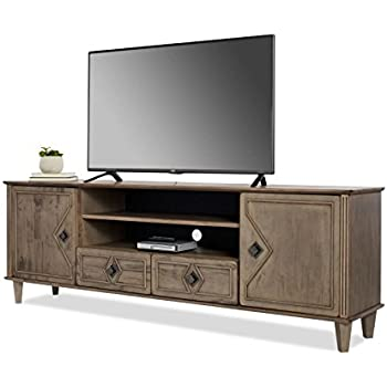 Amazoncom Modern Farmhouse TV Stand Provides Style And Function