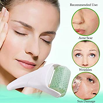LadyBeauty Roller Ice Skin Face Skin Cool Body Massage Derma Roller Sollievo istantaneo per rughe/acne della pelle