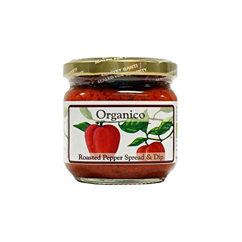 Organico Roasted Pepper Spread & Dip (195g) - Pack of 6 by Organico