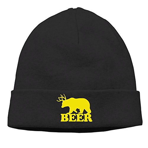 HR Adult's Yellow Beer Winter Solid Color Warm Knit Beanie Hat Skull Cap