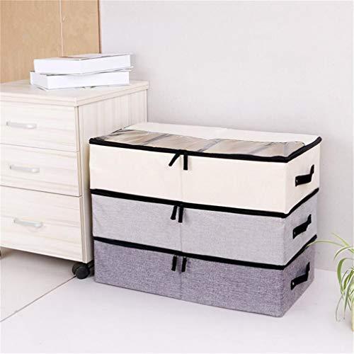 VADOLY Foldable Shoe Box Wardrobe Closet Organizer for Sock Bra Underwear Linen Cotton Storage Bag Under Bed Organizer by VADOLY (Image #3)