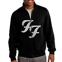 Men Famous Band Foo Fighters Basic Logo Hoodie Jacket Men Zip Up
