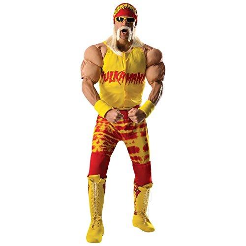 [Rubie's Costume Co Men's WWE Hulk Hogan Grand Heritage Costume, Multi, Large] (Wwe Wrestling Costumes For Adults)