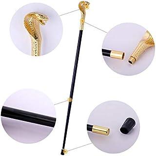 Walking Stick Home Bâton de Marche Artisanat Canne Art bâtons de Film Accessoires de bâtons bâtons de randonnée bâtons de Collecte têtes de Serpent (Color : Black, Size : 97cm)