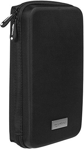 AmazonBasics Universal Travel Case Organizer for Small Electronics and Accessories, Black