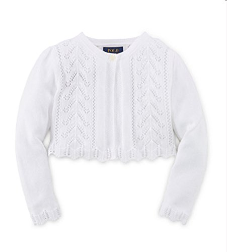 (Ralph Lauren Little Girls' Pointelle-Knit Cotton Shrug (5))