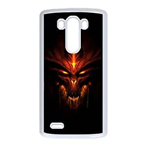LG G3 Cell Phone Case White Diablo sjnk