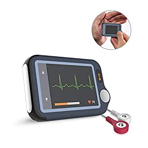 ECG Monitor – EKG with APP & PC Software – Detection in 30S/60S/5Mins, Cable & Cable Free Operation Heart Health Tracker