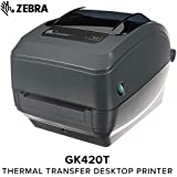 Zebra - GK420t Thermal Transfer Desktop Printer for labels, Receipts, Barcodes, Tags, and Wrist Bands - Print Width of 4 in - USB and Ethernet Port Connectivity - GK42-102210-000