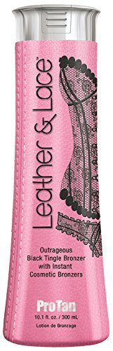 ProTan Leather/Lace Tingle Bronzer with Instant Cosmetic Bronzers, Black 300 ml by Pro Tan