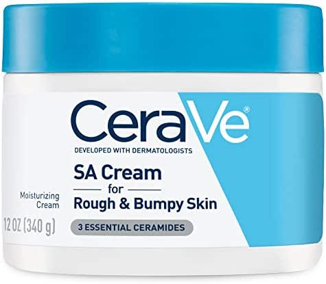 CeraVe SA Cream   Renewing Salicylic Acid Body Cream for Rough and Bumpy Skin   Fragrance Free, 12 Ounce