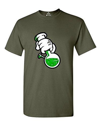 Shop4Ever Cartoon Hands Bong T-shirt Weed Shirts XXXXX-LargeMilitary Green 0