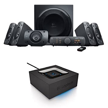 logitech z906 surround sound speaker system bundle with bluetooth audio adapter amazoncom logitech z906 surround sound speakers