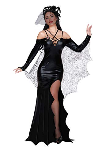 Scary Halloween Costumes For Womens 2019 (Dreamgirl Women's The Black Widow, Costume,)