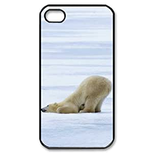 TOSOUL Customized Print Polar Bear Pattern Back Case for iPhone 4/4S