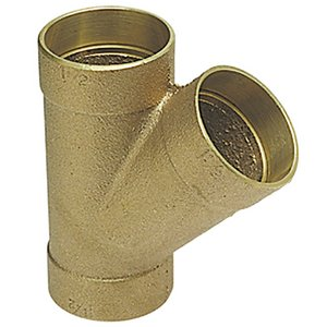 2 x 1-1/2 x 1-1/2 in. Drainage Waste and Vent Bronze Copper Wye