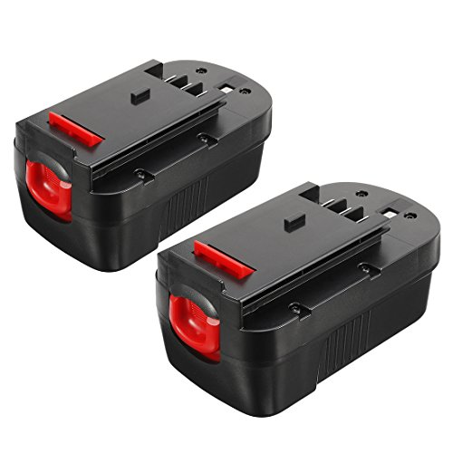 uxcell 2pcs 18V Max 1.5Ah Ni-Cd Replacement Rechargeable Battery for Black&Dekcer BD18PSK BDGL1800 BDGL18K-2 CD182K-2 CDC/ EPC/ FS (Cdc Series)