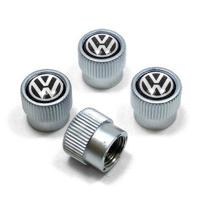 hongyangfumeilai HYFML Zinc alloy Tire Valve Caps For Volkswagen (Black Logo): Automotive