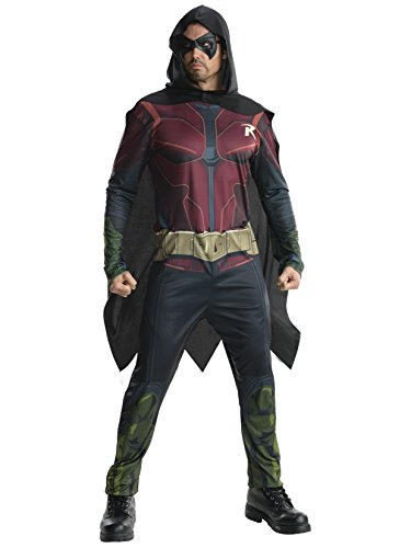 Rubie's Costume Men's Batman Arkham City Adult Robin, Multicolor, X-Large (Nightwing Costume)