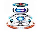 KI'MAG Robot Dancing Toy For Kids With Body Spinning 360 degrees and Bright Flashing Lights - For Kid Develop Motor Skills