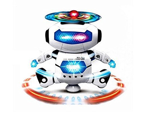 KI'MAG Robot Dancing Toy For Kids With Body Spinning 360 degrees and Bright Flashing Lights - For Kid Develop Motor Skills by KI'MAG