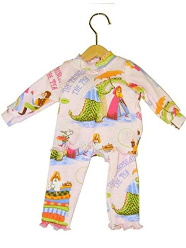 Books to Bed Princess and The Pea Long Johns (Doll Pajama)