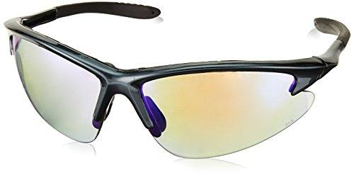 SAS Safety 540-0819 DB2 Eyewear with Clamshell, Charcoal Lens/Purple Haze Frame
