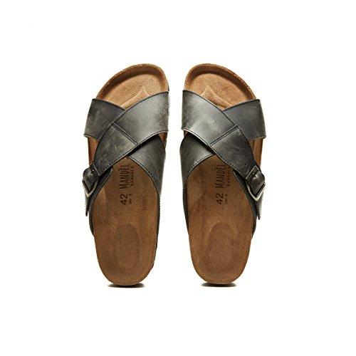 Sandalo Noir Homme Pour Noir Mandèl Sandales UApqwn6d1