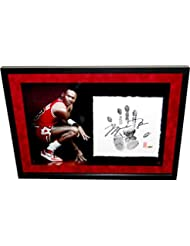 afdee1ce497a Michael Jordan Signed Tegata Handprint Lithograph UDA LE  68 123-Black  Handprint Version
