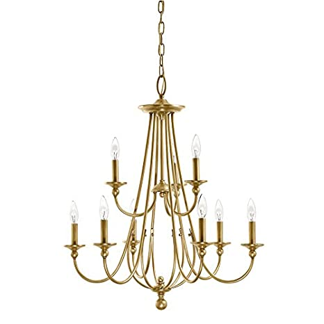 Camella 2598 in 9 light natural brass williamsburg candle camella 2598 in 9 light natural brass williamsburg candle chandelier aloadofball Image collections