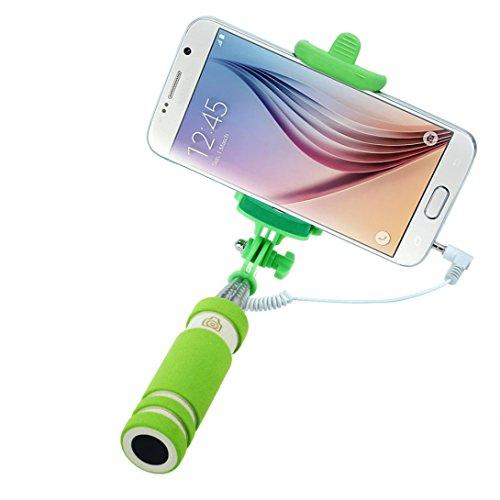 Wensltd Tripod Monopod Extendable Handheld Fold Self-portrait Stick (Green)