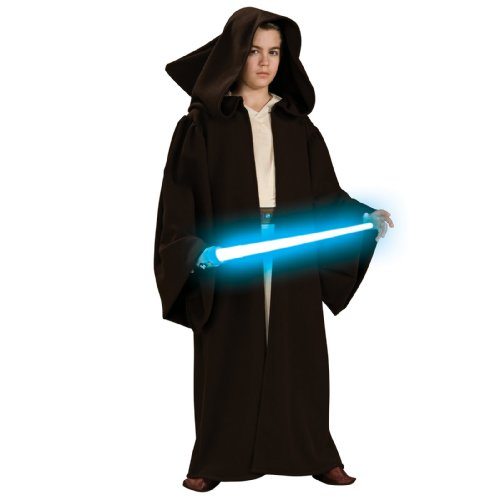 Rubies Star Wars Classic Child's Super Deluxe Jedi Robe, Small]()
