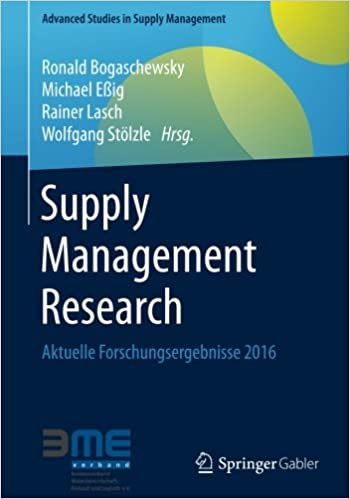 Supply Management Research: Aktuelle Forschungsergebnisse 2016 (Advanced Studies in Supply Management)