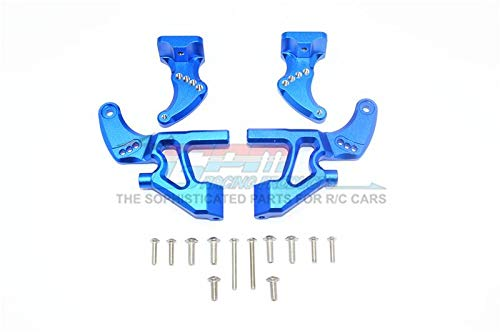 Traxxas E-Revo 2.0 VXL Brushless (86086-4) Upgrade Parts Aluminum Rear Wing Mount Full Set - 4Pc Set Blue
