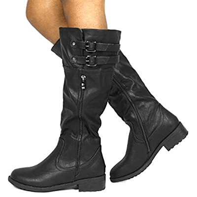 DREAM PAIRS Women's Knee High and up Riding Boots (Wide-Calf) | Knee-High