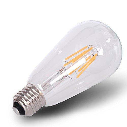 12 Volt Dc Light Bulbs: DC 12 Volt Warm White 3000k 6 Watt LED Filament ST64 Light
