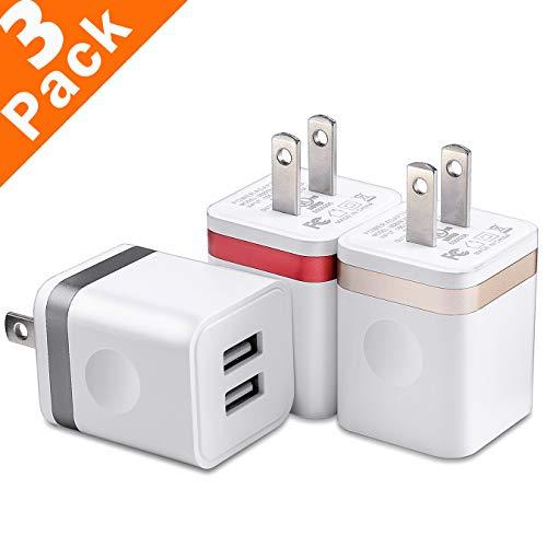 USB Wall Charger Plug, WITPRO Multi-Protection Dual Port Pow