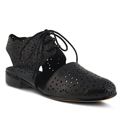 Spring Step Women's Style Neroh Black EURO Size 42 Leather Lace-Up Shoe by Spring Step
