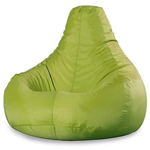 Chambre Pouf Poire 90cm x 73cm Pouf Sp/écial Gamer Textile Tiss/é Vert Citron Salon Bean Bag Bazaar Si/ège Inclinable de Designer R/ésistant /à l/'Eau Poufs d/'int/érieur et d/'ext/érieur