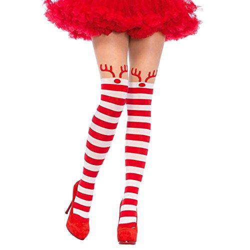 Leg Avenue Womens Candycane Striped