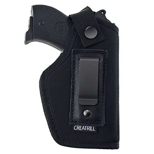 Creatrill Inside The Waistband Holster | Fits M&P Shield 9mm.40.45 Auto/Glock 26 27 29 30 33 42 43/Ruger LC9, LC380/Springfield XD & Similar Pistols | Gun Concealed Carry IWB Holster (Right, Size 3)