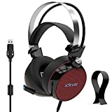 iClever Gaming Headset Noise Reduction - PC Gaming Headset 7.1 Surround Sound Deep