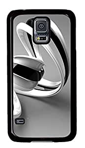 Samsung Galaxy S5 3D Black And White Lines With PC Custom Samsung Galaxy S5 Case Cover Black by icecream design