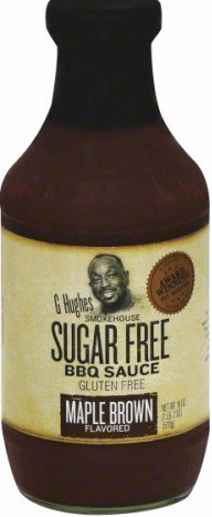Price comparison product image G Hughes BBQ Sauce SugarFree Maple Brown